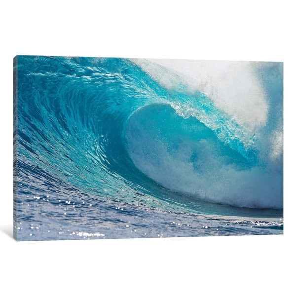 iCanvas Plunging Waves II, Sout Pacific Ocean, Tahiti, French Polynesia by Panoramic Images Canvas Print
