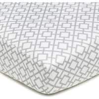 American Baby Company Grey Lattice Cotton Percale Crib Sheet