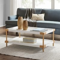 Madison Park Sophia White/ Gold Coffee Table