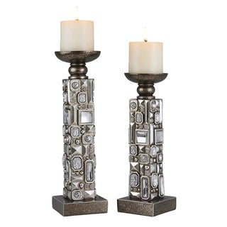 Sierra Mirrored Candle Holder Set