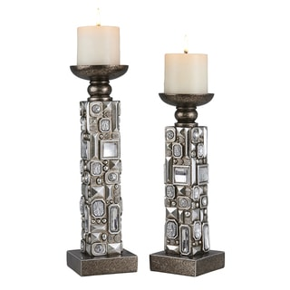 Madison Park Large Candle Holder With Gold Finish MP164-0342