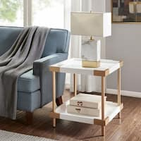Madison Park Sophia White/ Gold End Table