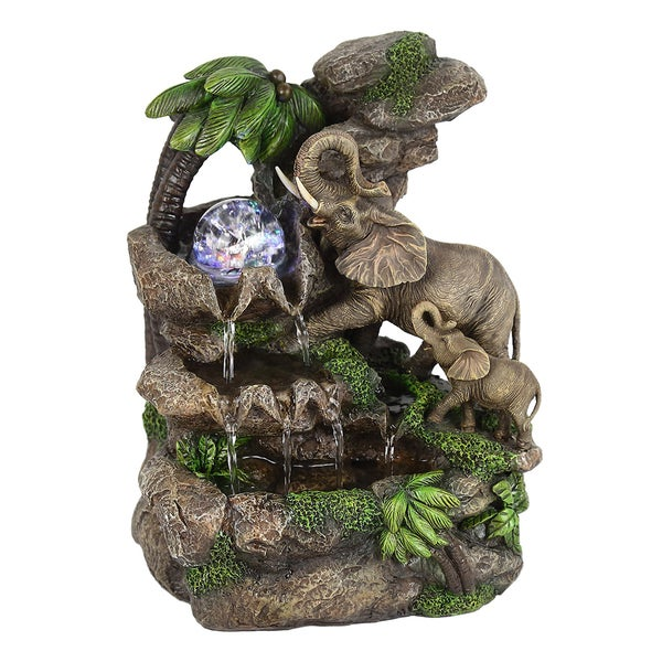 "11"" Elephant Table Fountain"