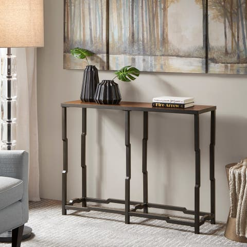 Madison Park Devin Walnut/ Graphite Tall Entry Table