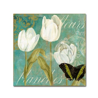 Color Bakery 'White Tulips I' Canvas Art