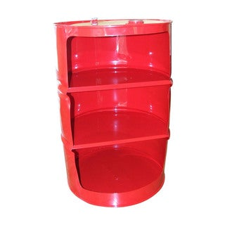 Drum Works Furniture Red Drum Shelf Unit