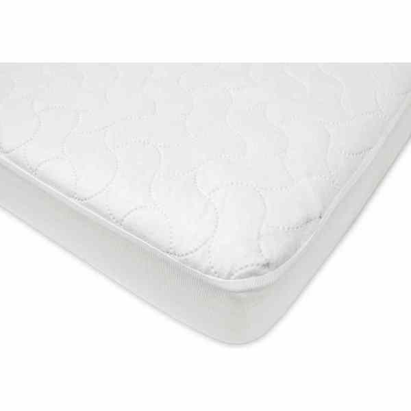 American Baby Company White Quilt-Like Crib and Toddler Protective Pad Cover