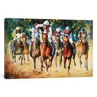 iCanvas 'Horse Race' by Leonid Afremov Canvas Print