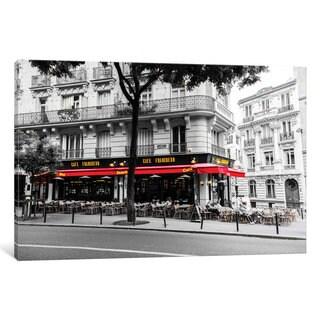 iCanvas 'Cafe In Paris' by Anders Jorulf Canvas Print