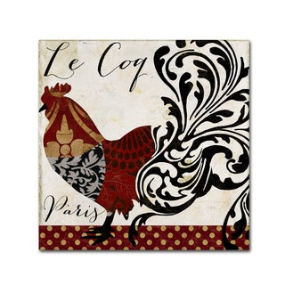 Color Bakery 'Roosters of Paris I' Canvas Art