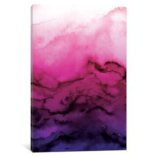 iCanvas 'Winter Waves - Fuchsia Purple Ombre' by Julia Di Sano Canvas Print