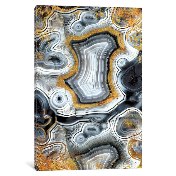 iCanvas 'Geode Onyx' by 5by5collective Canvas Print