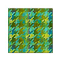 Color Bakery 'Houndstooth VII' Canvas Art - Blue