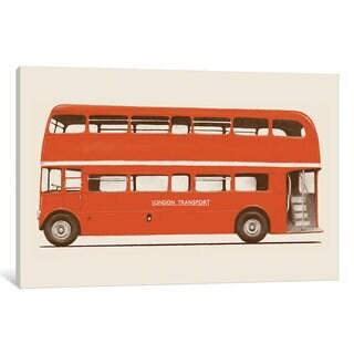 iCanvas 'English Bus (London Transport Double-Decker)' by Florent Bodart Canvas Print