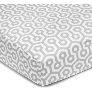 American Baby Company Grey Honeycomb Cotton Percale Crib Sheet