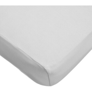 American Baby Company Grey 100-percent Supreme Cotton Jersey Knit Fitted Portable/Mini Crib Sheet