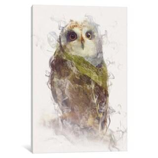 iCanvas 'Owl' by Dániel Taylor Canvas Print