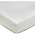 American Baby Company Grey Zigzag Cotton Percale Crib Sheet