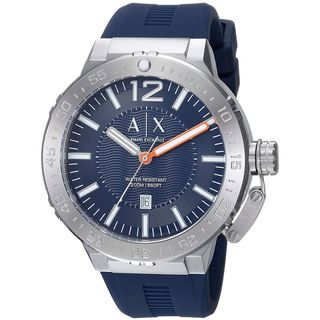 Armani Exchange Men's AX1812 'Active' Blue Silicone Watch