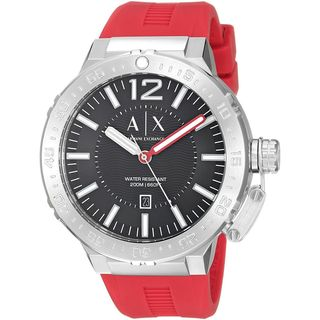 Armani Exchange Men's AX1811 'Active' Red Silicone Watch