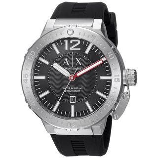 Armani Exchange Men's AX1810 'Active' Black Silicone Watch|https://ak1.ostkcdn.com/images/products/14767510/P21290944.jpg?impolicy=medium