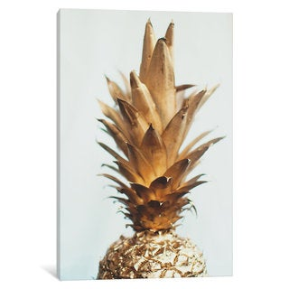 iCanvas 'The Gold Pineapple' by Chelsea Victoria Canvas Print