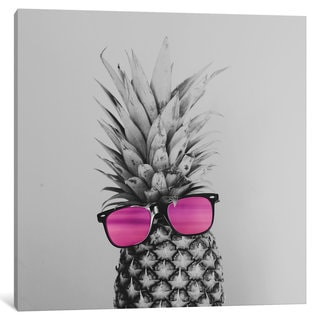 iCanvas 'Mrs. Pineapple' by Chelsea Victoria Canvas Print