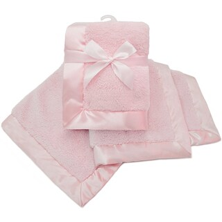 American Baby Company Pink Sherpa Receiving Blanket