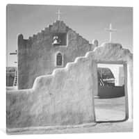 iCanvas 'Church, Taos Pueblo, New Mexico, 1941' by Ansel Adams Canvas Print