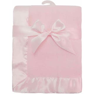 American Baby Company Pink Fleece Satin Trim Blanket|https://ak1.ostkcdn.com/images/products/14767631/P21291100.jpg?impolicy=medium