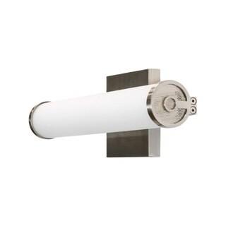 Brighton Satin Nickel Glass 13-inch ADA AC 2700K LED Bathroom Bar Light /Wall Sconce