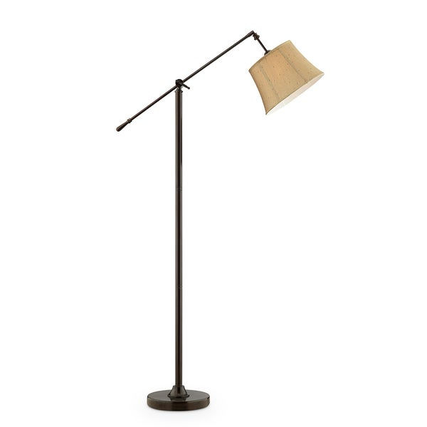 Taylor Antique Bronze Swing Floor Lamp, 65 inches high