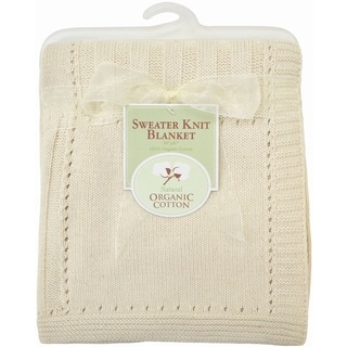 American Baby Company Natural Organic Cotton Sweater Knit Blanket