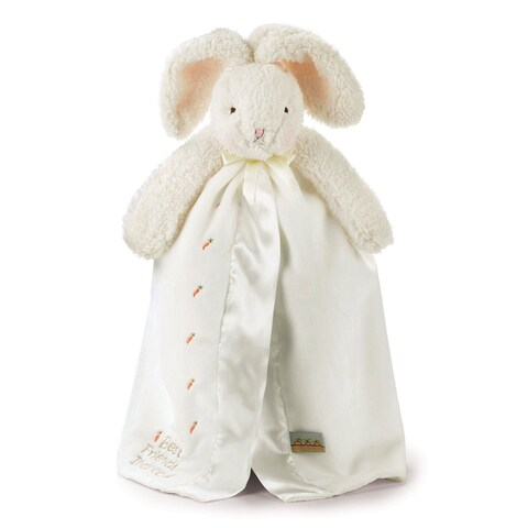 Bunnies By The Bay Baby Bud's Buddy White Blanket
