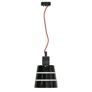 Madison Black Glass with Black Fittings 2700K AC LED Handcrafted Pendant