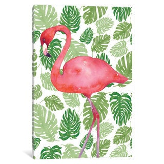 iCanvas 'Tropical Flamingo II' by Wild Apple Portfolio Canvas Print