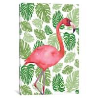 iCanvas 'Tropical Flamingo I' by Wild Apple Portfolio Canvas Print