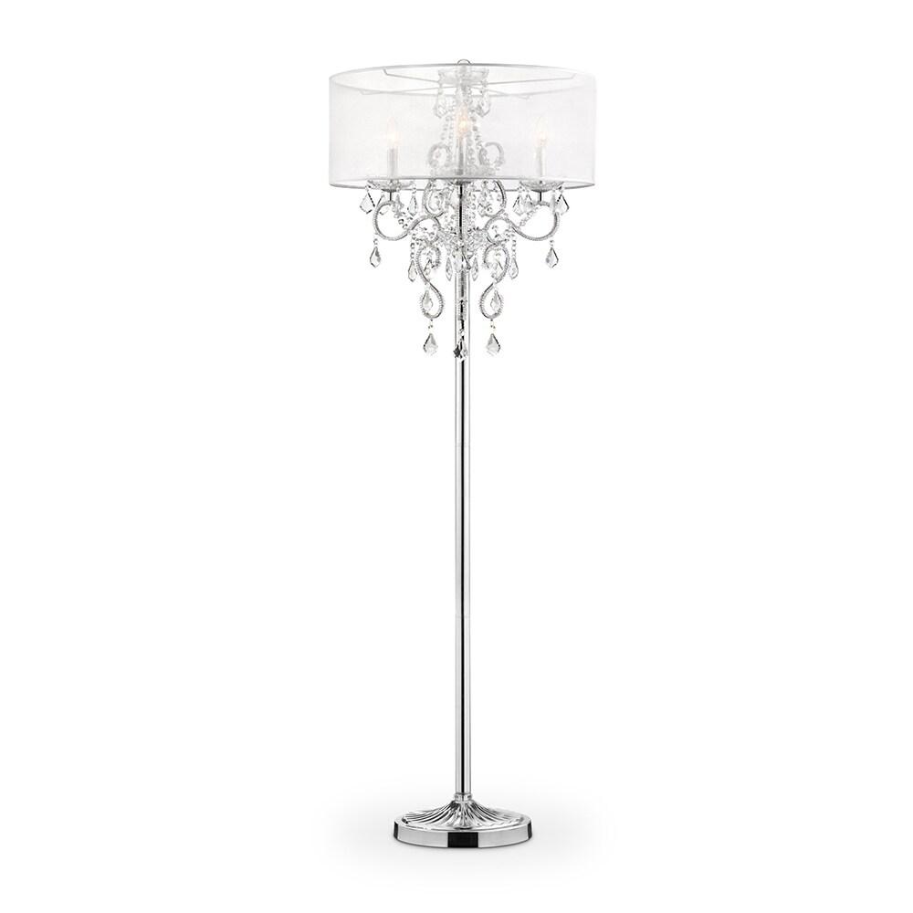 Evangelia Crystal Floor Lamp 63 Inches High On Sale Overstock 14767751