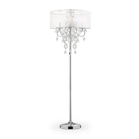 Evangelia Crystal Floor Lamp, 63 inches high