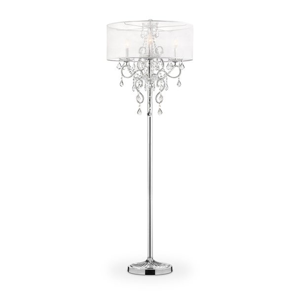 Shop Evangelia Crystal Floor Lamp 63 Inches High On Sale Free