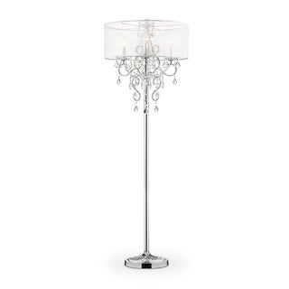 Evangelia Crystal Floor Lamp, 63 inches high