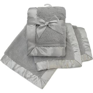 American Baby Company Grey Sherpa Receiving Blanket with 2.5-inch Satin Trim|https://ak1.ostkcdn.com/images/products/14767766/P21291229.jpg?impolicy=medium