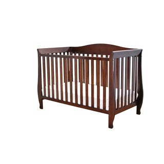 AFG Waverly Espresso 4-in-1 Convertible Crib with Guardrail