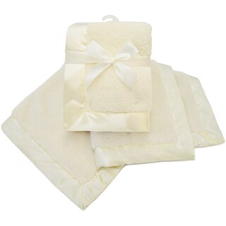American Baby Company Ecru Sherpa Receiving Blanket