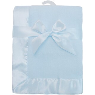 American Baby Company Blue Fleece Blanket with Satin Trim