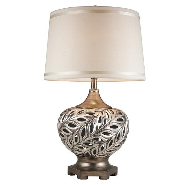 "28.75"" Kiara Silvertone Table Lamp"