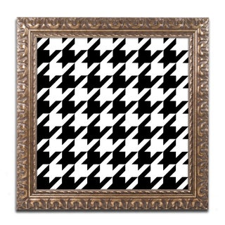 Color Bakery 'Houndstooth II' Ornate Framed Art