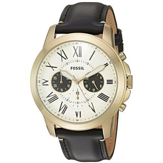 Fossil Men's FS5272 'Grant' Chronograph Black Leather Watch