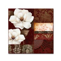 Color Bakery 'Flores Blancas III' Canvas Art - Red