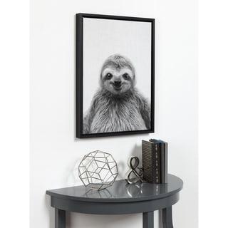 Kate and Laurel Sylvie Sloth Framed Canvas by Simon Te Tai - 18x24
